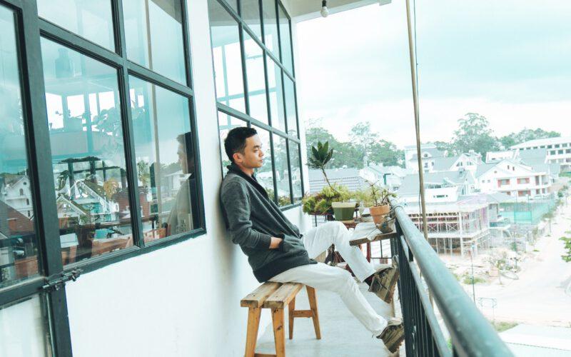 loungebank voor op balkon